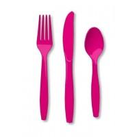 Hot Magenta Pink Cutlery