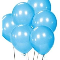 baby blue latex balloons