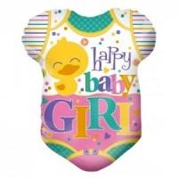 happy baby girl foil