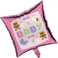 Baby Pink Teddy Bear Foil Balloon