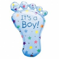 Girl Giant Baby Foot Foil Balloon