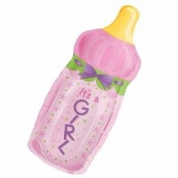 Baby Girl Large Bottle Foil Balloon