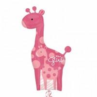 pink Giant Giraffe Foil Balloon