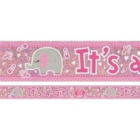 It's a Girl Elephant Banner