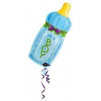 Baby Boy Large Bottle Foil Balloon