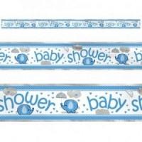 boy umbrellaphants foil banner