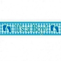 It's a boy feet foil banner
