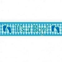 It's a boy feet foil banner