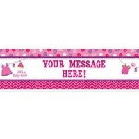 Baby Girl Clothes Line Personalised Giant Banner