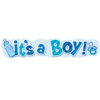 It's A Boy Giant Banner