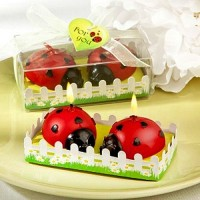 Ladybug shaped wax candles