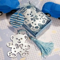 Lovable Teddy Bear Design Bookmarks Blue