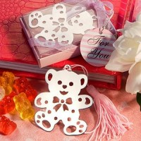 Lovable Teddy Bear Design Bookmarks Pink
