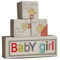 Kitted Out-Baby Girl Tooth, Curl and Nametag Keepsake Box Set