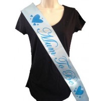 Mum to be sash blue and blue