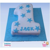 boy first birthday cake