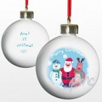 A Personalised Christmas Scene Tree Bauble