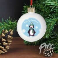 Personalised Penguin Tree Bauble