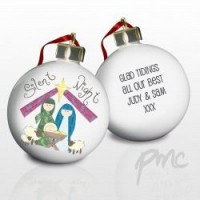A Personalised Nativity Scene Bauble