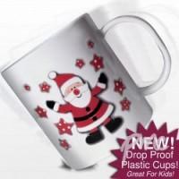Personalised Santa Plastic Mug