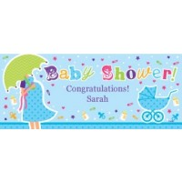 Personalised Baby Shower Banner - Blue