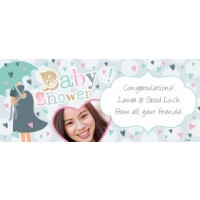 Personalised Baby Shower Banner with Photo