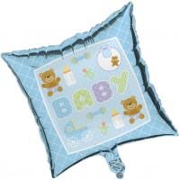Blue Teddy Bear Foil Balloon