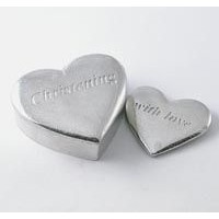 Christening Pewter Box with Heart