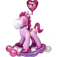 Pink Rocking horse foil balloon 50inch