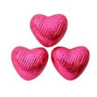 Heart Shaped Chocolate in Hot Pink Foil