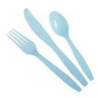 powder blue cutlery set