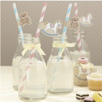 Rock-a-Bye Baby Straws & Flags (pack of 25)