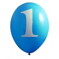 Pack of 6 Blue 1st Birthday Balloons