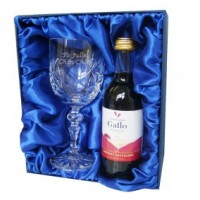 Red Wine & Crystal Glass Set