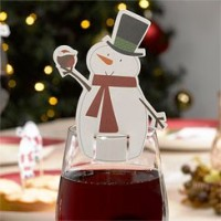 Let it Snow - Snowman Glass Decoration