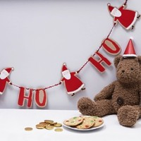 Santa and Friends Ho Ho Ho Paper Bunting - 2m