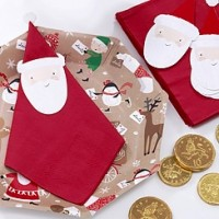 Santa and Friends Napkin Toppers