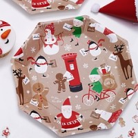 Santa and Friends Plates - 23cm Paper Party Plates