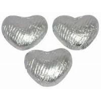 Heart Shaped Chocolates in Silver Foil