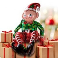 Sitting Elf Balloon - 29'' Foil