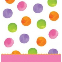 1st Birthday Girl Dots Large Tablecover