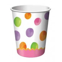 1st Birthday Girl Dots Cups