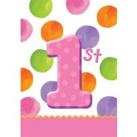1st Birthday Girl Dots Loot/Party Bags