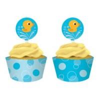 Little Quack Cupcake Wraps & Picks