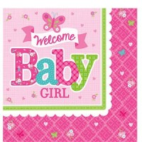 Welcome Baby Girl Napkins