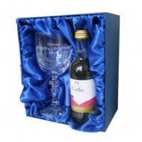 White Wine & Crystal Glass Set