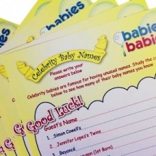 Celebrity Baby Shower Name Game - pack for 10