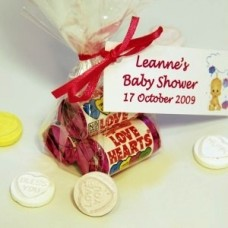 Trio of Love Hearts Favour with Personalised Label