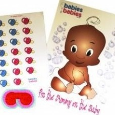 Ethnic Pin the Dummy Baby Shower Game ©