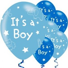 It's a Boy Balloons - pack of 6